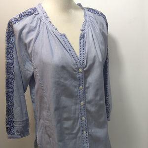 Roberta Roller Rabbit S Shirt Top Blue